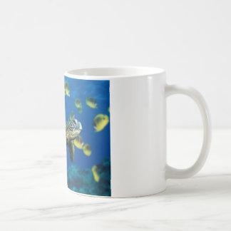 Tortuga de mar verde taza