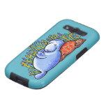 Tortuga de mar y fiesta de pijamas del Manatee Samsung Galaxy S3 Carcasa