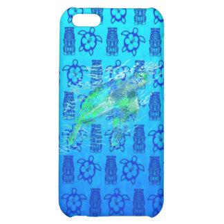 Tortuga de mar y Tiki azul