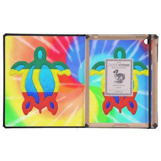 Tortuga de Rasta Honu del teñido anudado iPad Carcasa