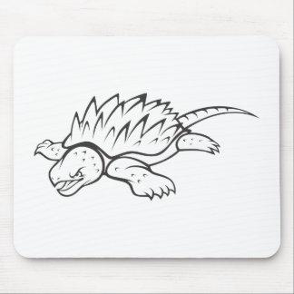 Tortuga de rotura enojada de cocodrilo tapete de raton
