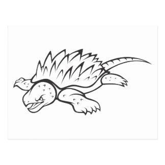 Tortuga de rotura enojada de cocodrilo tarjeta postal