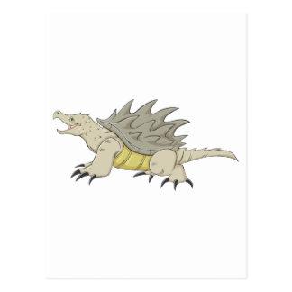 Tortuga de rotura feliz de cocodrilo tarjeta postal