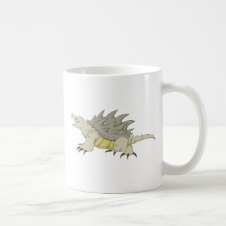 Tortuga de rotura feliz de cocodrilo taza de café