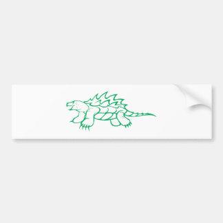 Tortuga de rotura seria de cocodrilo etiqueta de parachoque