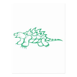 Tortuga de rotura seria de cocodrilo postales
