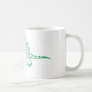 Tortuga de rotura seria de cocodrilo tazas de café