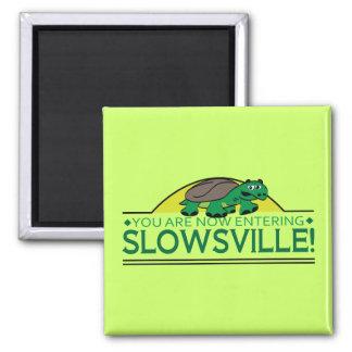 Tortuga de Slowsville Imán Cuadrado