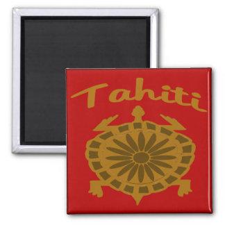 Tortuga de Tahití Imán Cuadrado