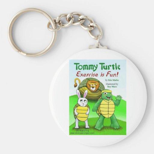 Tortuga de Tommy: ¡El ejercicio es diversión! Llavero Redondo Tipo Pin