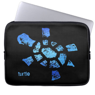 "Tortuga del agua azul 13"" mangas portátiles"