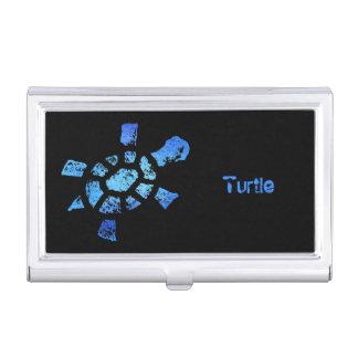 Tortuga del agua azul caja de tarjetas de presentación