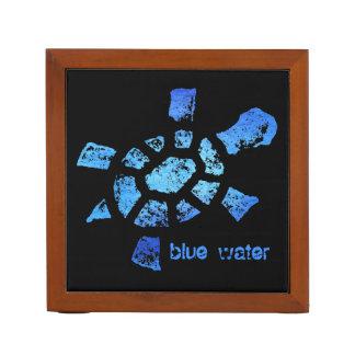 Tortuga del agua azul organizador de escritorio