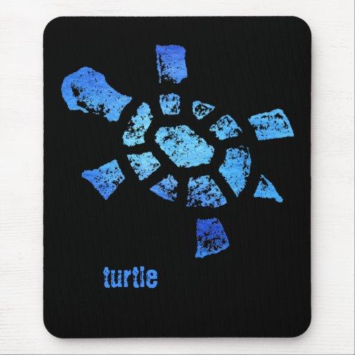 Tortuga del agua azul tapete de raton