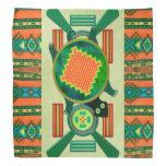 Tortuga del arte popular del nativo americano bandana