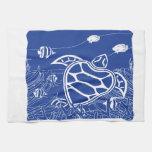 Tortuga del azul de Hawaii Toallas De Mano