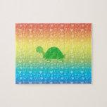 Tortuga del bebé de los corazones del arco iris puzzle