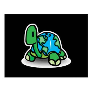 tortuga del Día de la Tierra Tarjetas Postales