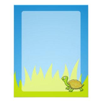 "Tortuga del dibujo animado folleto 4.5"" x 5.6"""