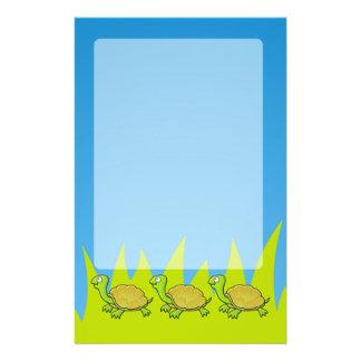 "Tortuga del dibujo animado folleto 5.5"" x 8.5"""