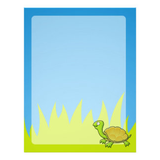"Tortuga del dibujo animado folleto 8.5"" x 11"""