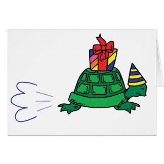 Tortuga del fiesta tarjeta de felicitación