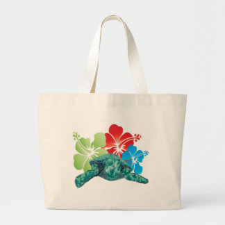 Tortuga del hibisco de Hawaii Bolsa Tela Grande