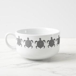 Tortuga del laberinto bol para sopa