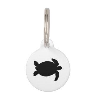Tortuga del Mar Negro Placa Para Mascotas