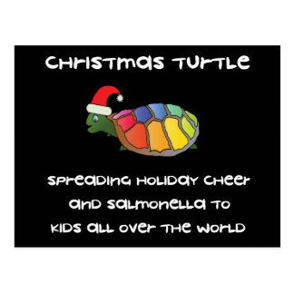 Tortuga del navidad tarjetas postales