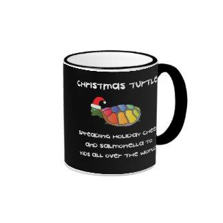 Tortuga del navidad taza de dos colores
