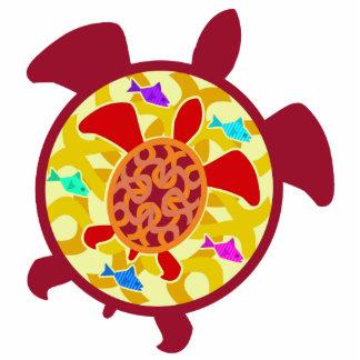 Tortuga dentro del ornamento de la tortuga adorno fotoescultura