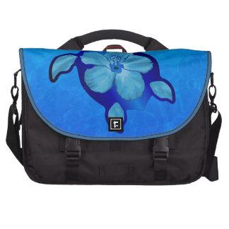 Tortuga e hibisco azules de Honu Bolsas Para Portátil