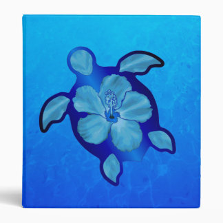 "Tortuga e hibisco azules de Honu Carpeta 1"""