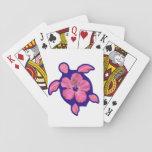 Tortuga e hibisco hawaianos de Honu Cartas De Póquer