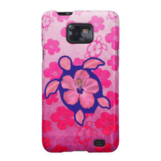 Tortuga e hibisco hawaianos de Honu Samsung Galaxy S2 Fundas