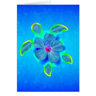 Tortuga e hibisco tropicales de Honu Tarjeta De Felicitación