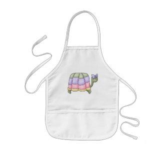Tortuga en colores pastel delantal infantil