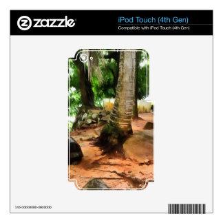 Tortuga en su propio ajuste calcomanías para iPod touch 4G