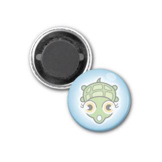 Tortuga en una burbuja iman de nevera