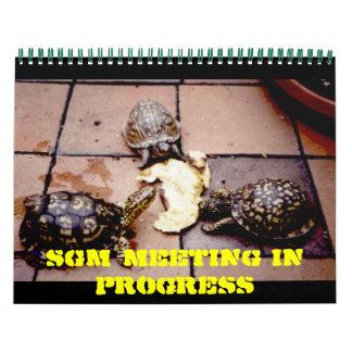TORTUGA, encuentro del SGM en curso - modificado p Calendarios De Pared