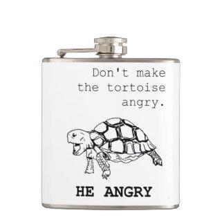 Tortuga enojada - no le haga la tinta negra