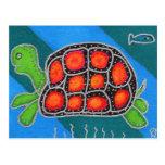 Tortuga estupenda postal