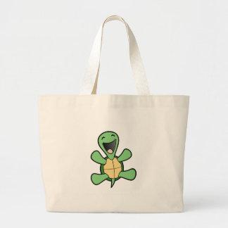 Tortuga feliz bolsa tela grande