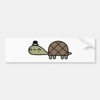Tortuga feliz etiqueta de parachoque