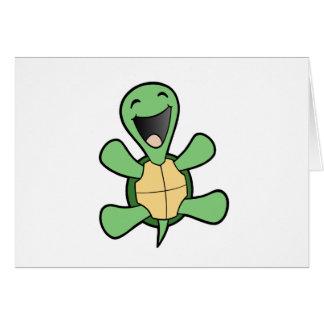 Tortuga feliz tarjeta de felicitación