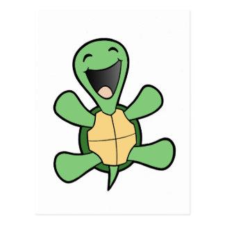Tortuga feliz postal
