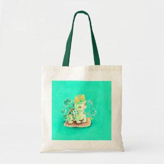 Tortuga femenina bolsas lienzo
