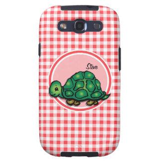 Tortuga; Guinga roja y blanca Galaxy S3 Coberturas