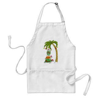 Tortuga hawaiana Santas del navidad Delantal